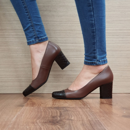 Pantofi cu toc Piele Naturala Guban Maro Evgenya D025131