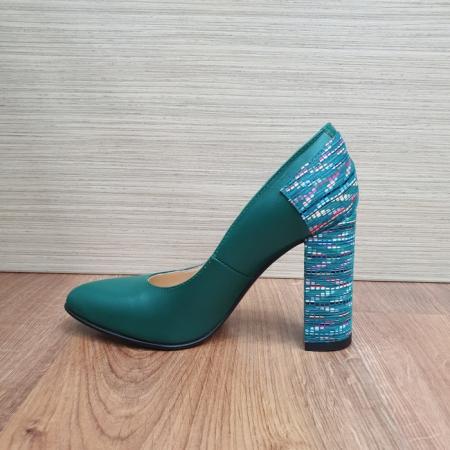 Pantofi cu toc Piele Naturala Moda Prosper Verzi Melisandre D024861