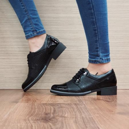 Pantofi Oxford Piele Naturala Negri Anita D025151