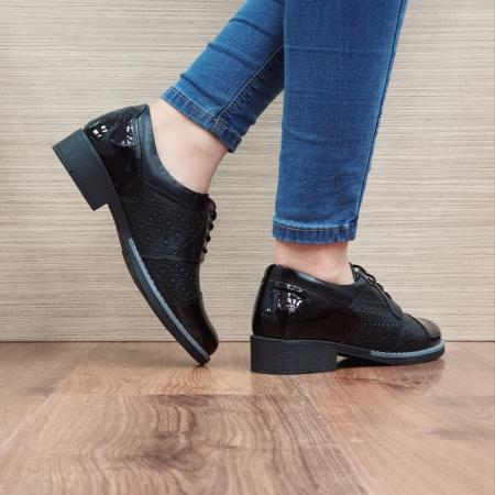 Pantofi Oxford Piele Naturala Negri Anita D025153