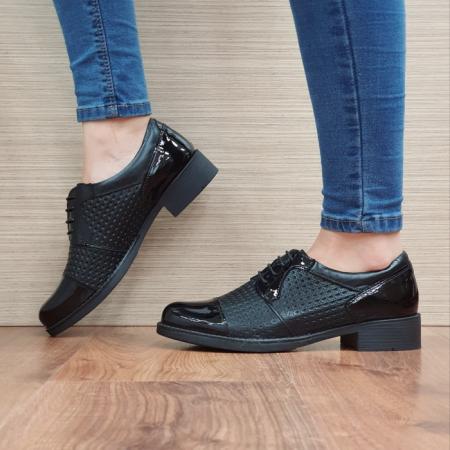 Pantofi Oxford Piele Naturala Negri Anita D025211