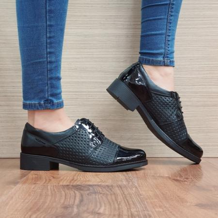 Pantofi Oxford Piele Naturala Negri Anita D025210