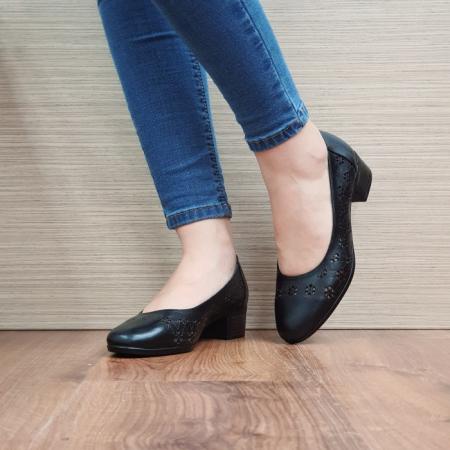 Pantofi Dama Piele Naturala Negri Judy D024552