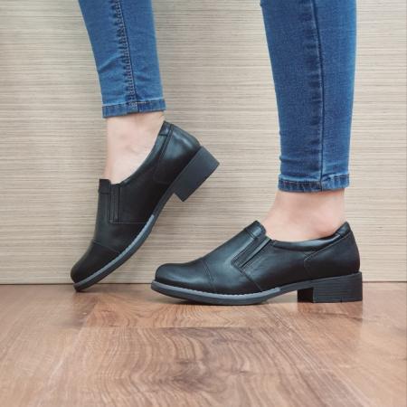 Pantofi Casual Piele Naturala Negri Lucille D02468 [1]