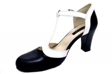 Pantofi Dama Piele Naturala Bleumarin Noa D01294 [2]