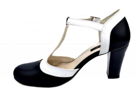 Pantofi Dama Piele Naturala Bleumarin Noa D01294 [1]
