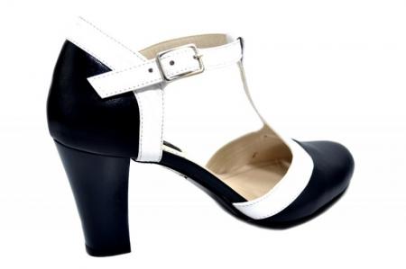 Pantofi Dama Piele Naturala Bleumarin Noa D01294 [3]