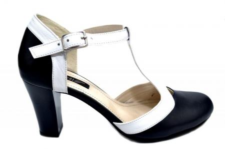 Pantofi Dama Piele Naturala Bleumarin Noa D01294 [0]