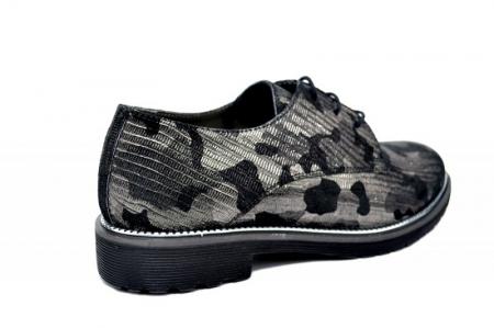 Pantofi Oxford Piele Naturala Negri Orana D01744 [3]