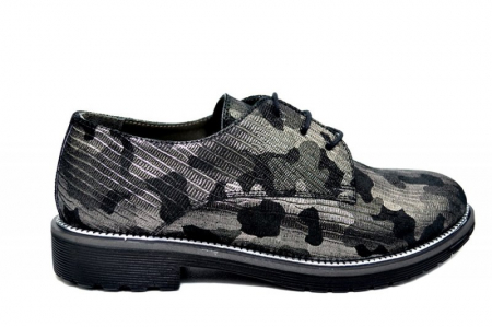 Pantofi Oxford Piele Naturala Negri Orana D017440