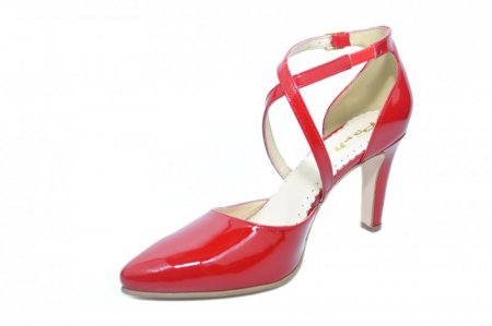 Pantofi Dama Piele Naturala Rosii Paloma D01860 [2]
