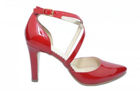Pantofi Dama Piele Naturala Rosii Paloma D01860 [0]