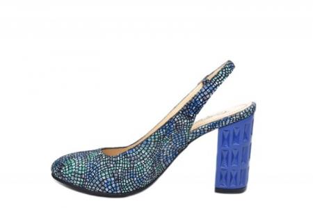 Pantofi Dama Piele Naturala Bleumarin Corvaris Paola D020591