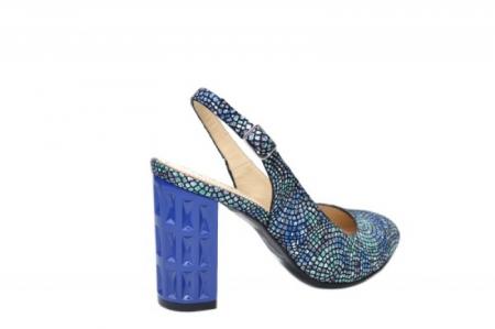 Pantofi Dama Piele Naturala Bleumarin Corvaris Paola D020593