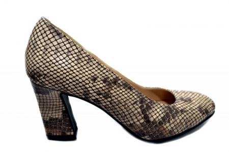 Pantofi cu toc Piele Naturala Negri Corvaris Rafaella D01339 [0]