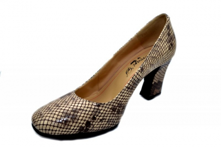 Pantofi cu toc Piele Naturala Negri Corvaris Rafaella D01339 [2]