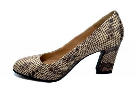 Pantofi cu toc Piele Naturala Negri Corvaris Rafaella D01339 [1]