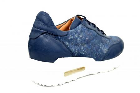 Pantofi Casual Piele Naturala Bleumarin Ramla D016353