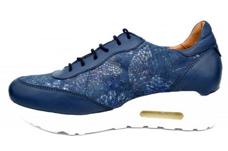 Pantofi Casual Piele Naturala Bleumarin Ramla D016351