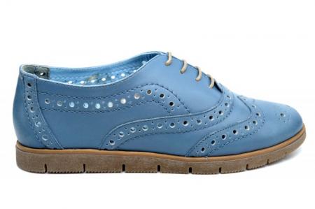 Pantofi Casual Piele Naturala Albastri Randa D016400