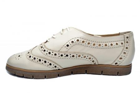 Pantofi Casual Piele Naturala Bej Randa D016481