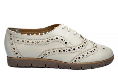 Pantofi Casual Piele Naturala Bej Randa D016480