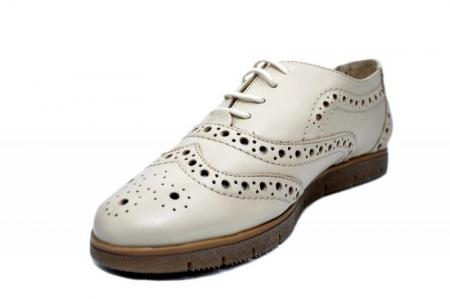 Pantofi Casual Piele Naturala Bej Randa D016482