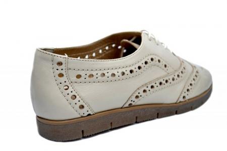 Pantofi Casual Piele Naturala Bej Randa D016483