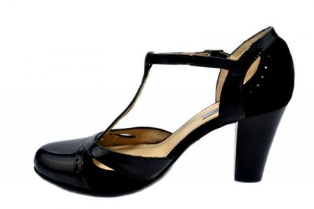 Pantofi Dama Piele Naturala Negri Rebecca D012901