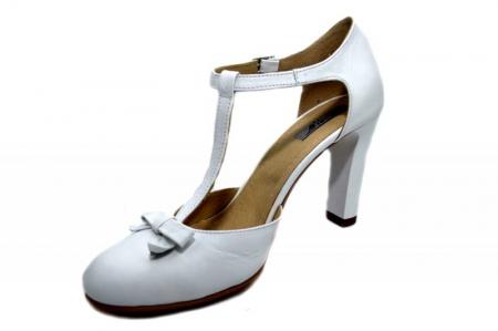 Pantofi Dama Piele Naturala Albi Rebecca D012932