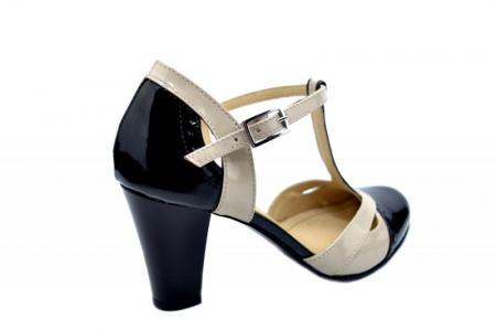 Pantofi Dama Piele Naturala Negri Rebecca D015973
