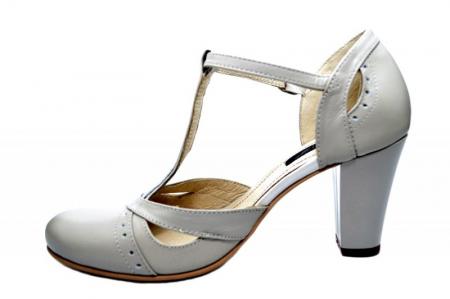 Pantofi Dama Piele Naturala Bej Rebecca D016801