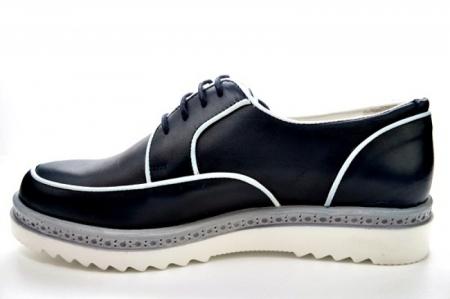 Pantofi Casual Piele Naturala Bleumarin Prego Roma D01143 [1]