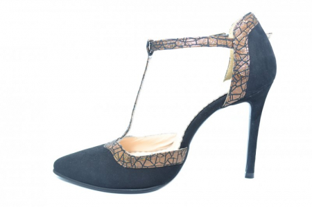 Pantofi Dama Piele Naturala Negri Samira D018541