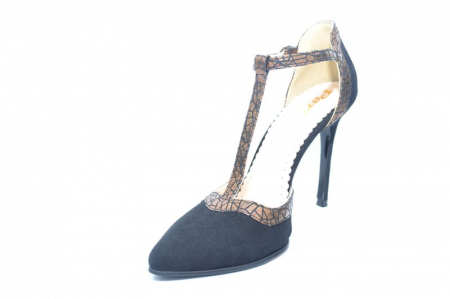 Pantofi Dama Piele Naturala Negri Samira D018542