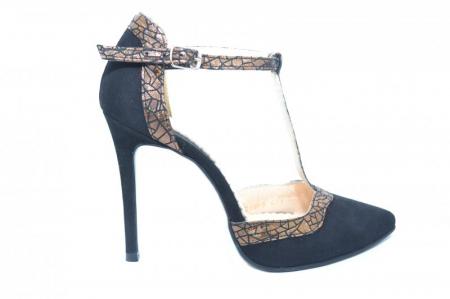 Pantofi Dama Piele Naturala Negri Samira D018540