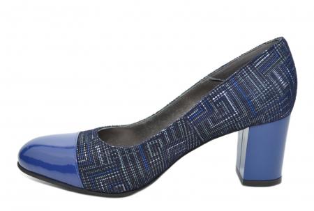 Pantofi cu toc Piele Naturala Bleumarin Moda Prosper Sarama D020711