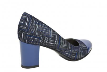 Pantofi cu toc Piele Naturala Bleumarin Moda Prosper Sarama D02071 [3]