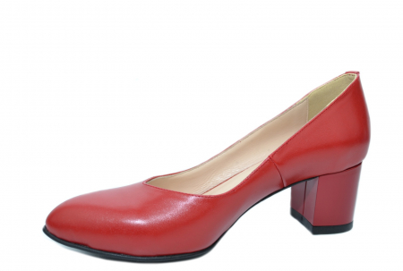 Pantofi cu toc Piele Naturala Rosii Moda Prosper Selena D02073 [3]