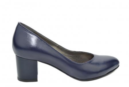 Pantofi cu toc Piele Naturala Bleumarin Moda Prosper Selena D020740