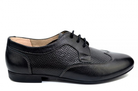 Pantofi Casual Piele Naturala Negri Serena D01345 [0]
