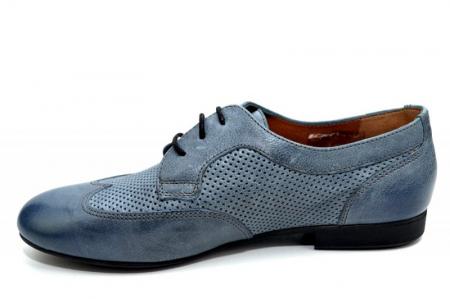 Pantofi Casual Piele Naturala Albastri Serena D013461