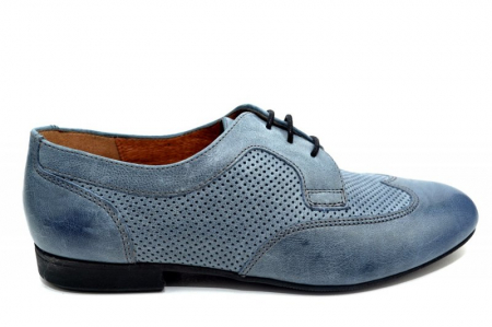 Pantofi Casual Piele Naturala Albastri Serena D013460