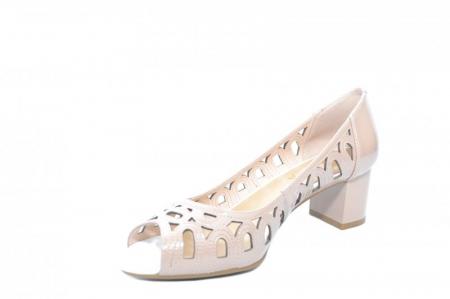 Pantofi Dama Piele Naturala Crem Shirlene D018672