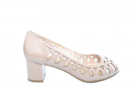 Pantofi Dama Piele Naturala Crem Shirlene D018670