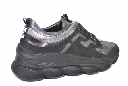 Pantofi Casual Piele Naturala Negri Silviana D020803