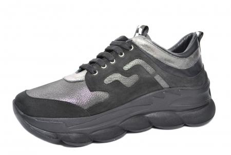 Pantofi Casual Piele Naturala Negri Silviana D020802