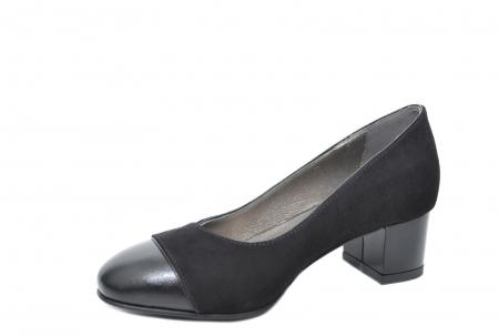 Pantofi cu toc Piele Naturala Negri Moda Prosper Simina D02075 [3]