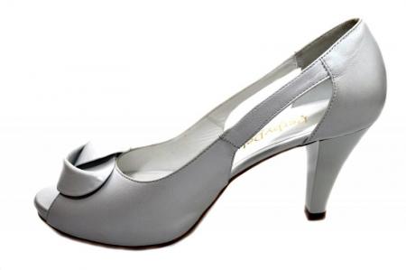 Pantofi Dama Piele Naturala Albi Simone D013301