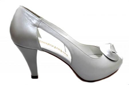 Pantofi Dama Piele Naturala Albi Simone D013300